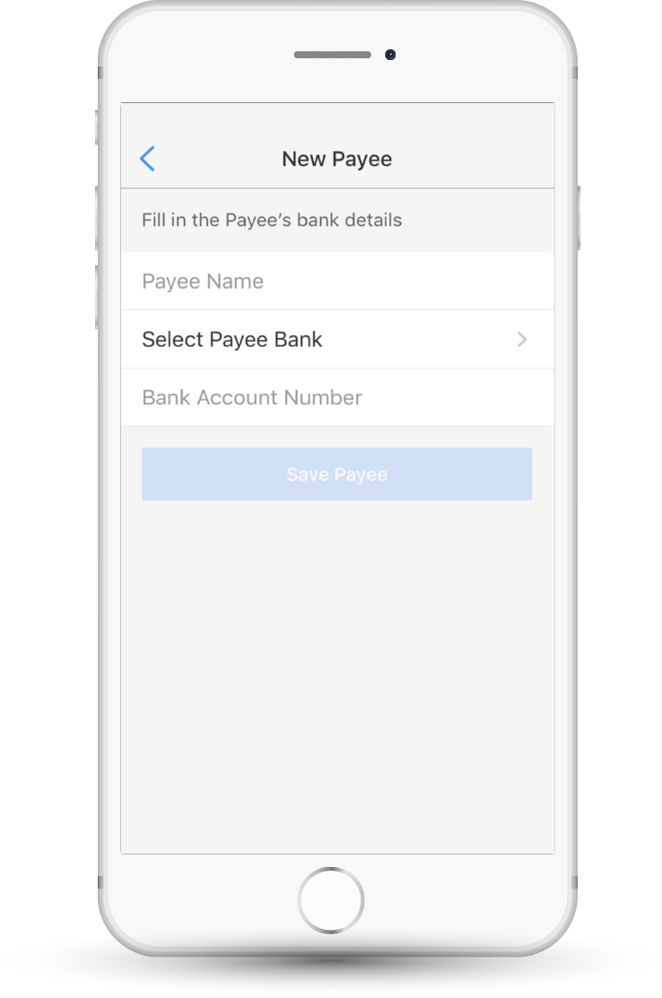 how to add rbc bank account as a payee